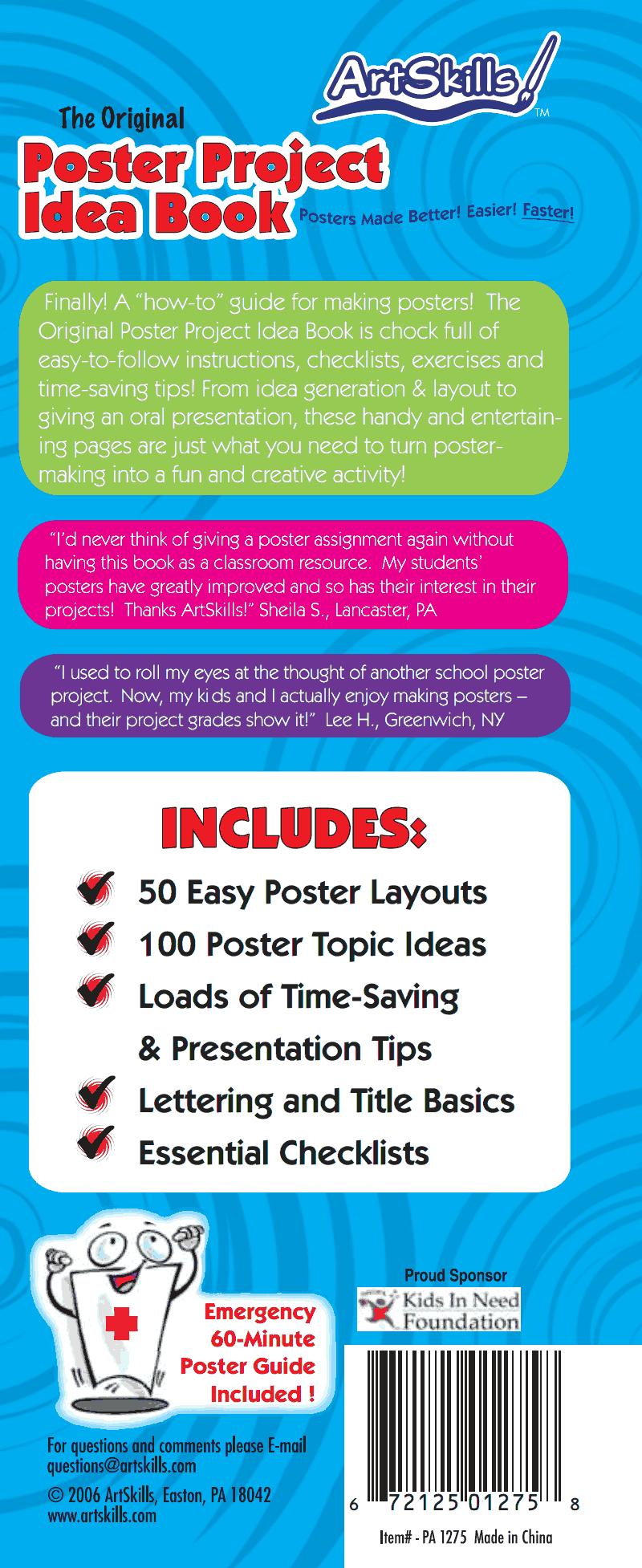 artskills_poster_handbook.pdf Saving tips, Poster