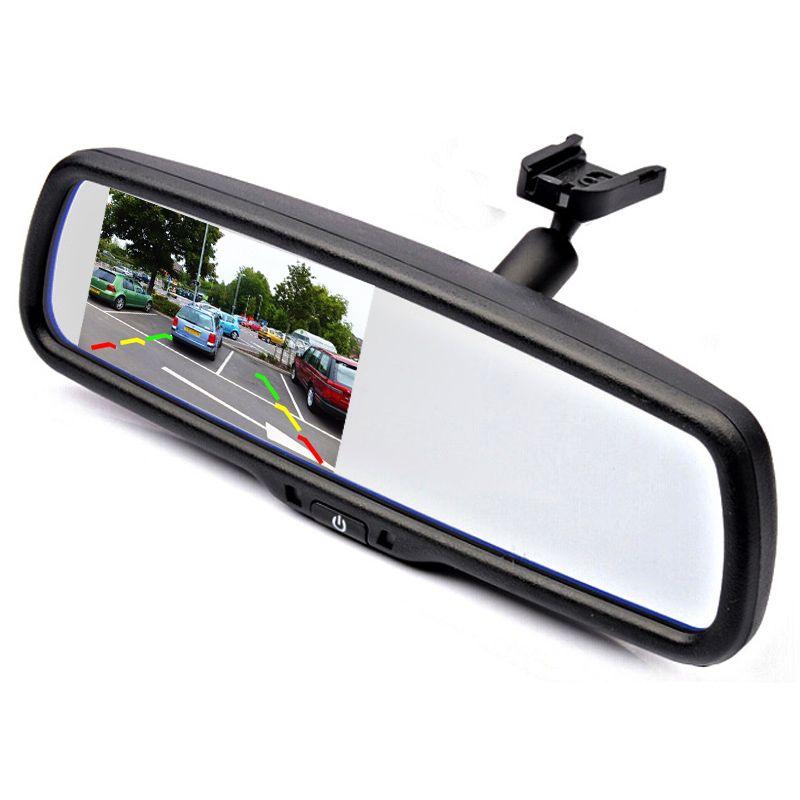 Car Parking Rear view Mirror Monitor With Special Bracket for Toyota Highlander/RAV4/Carola/Yaris/Verso/Crown/Prado/Gamay