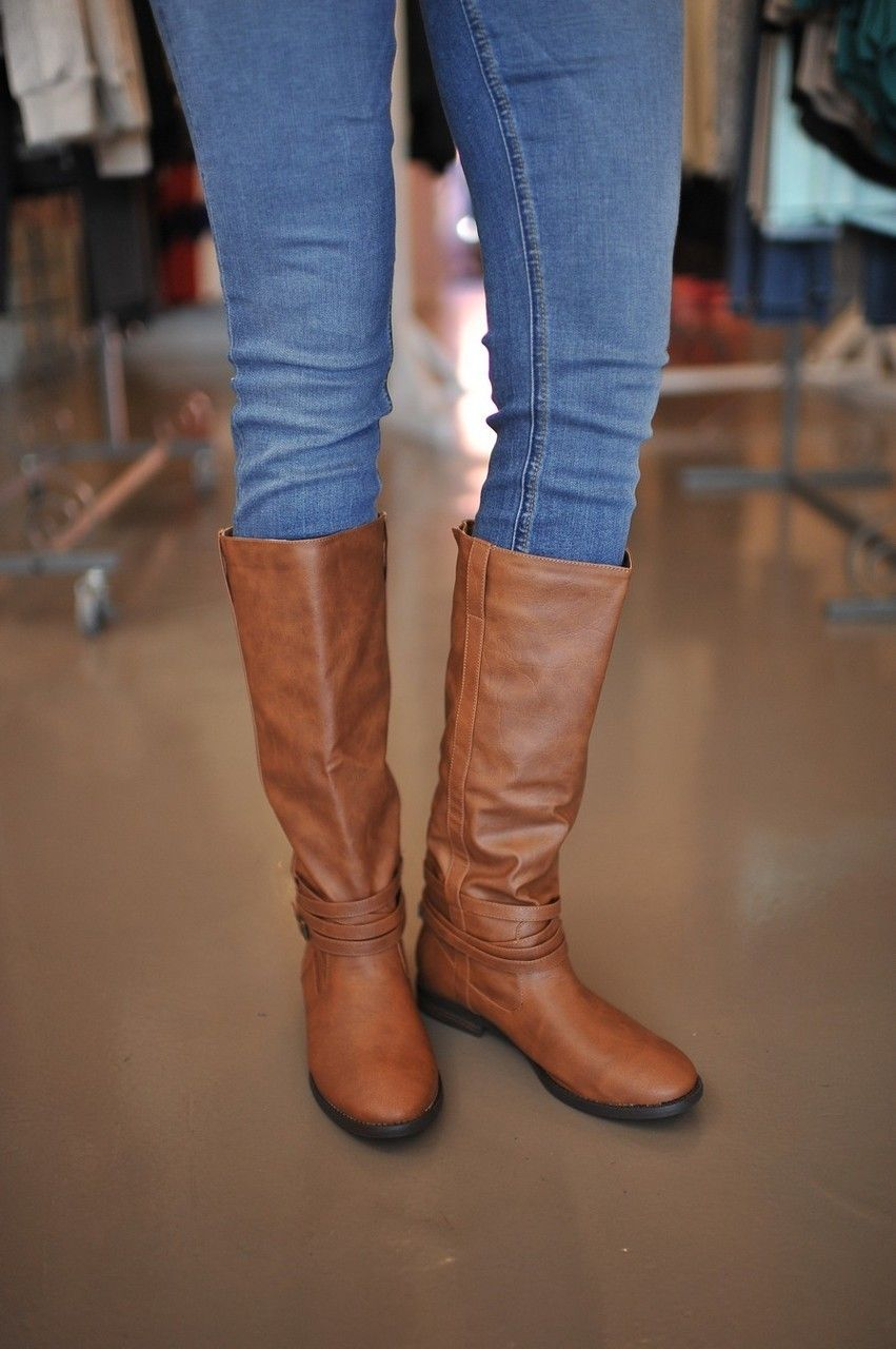 Dottie Couture Boutique - Flat Brown Boot, $44.00 (http://www.dottiecouture.com/flat-brown-boot/)