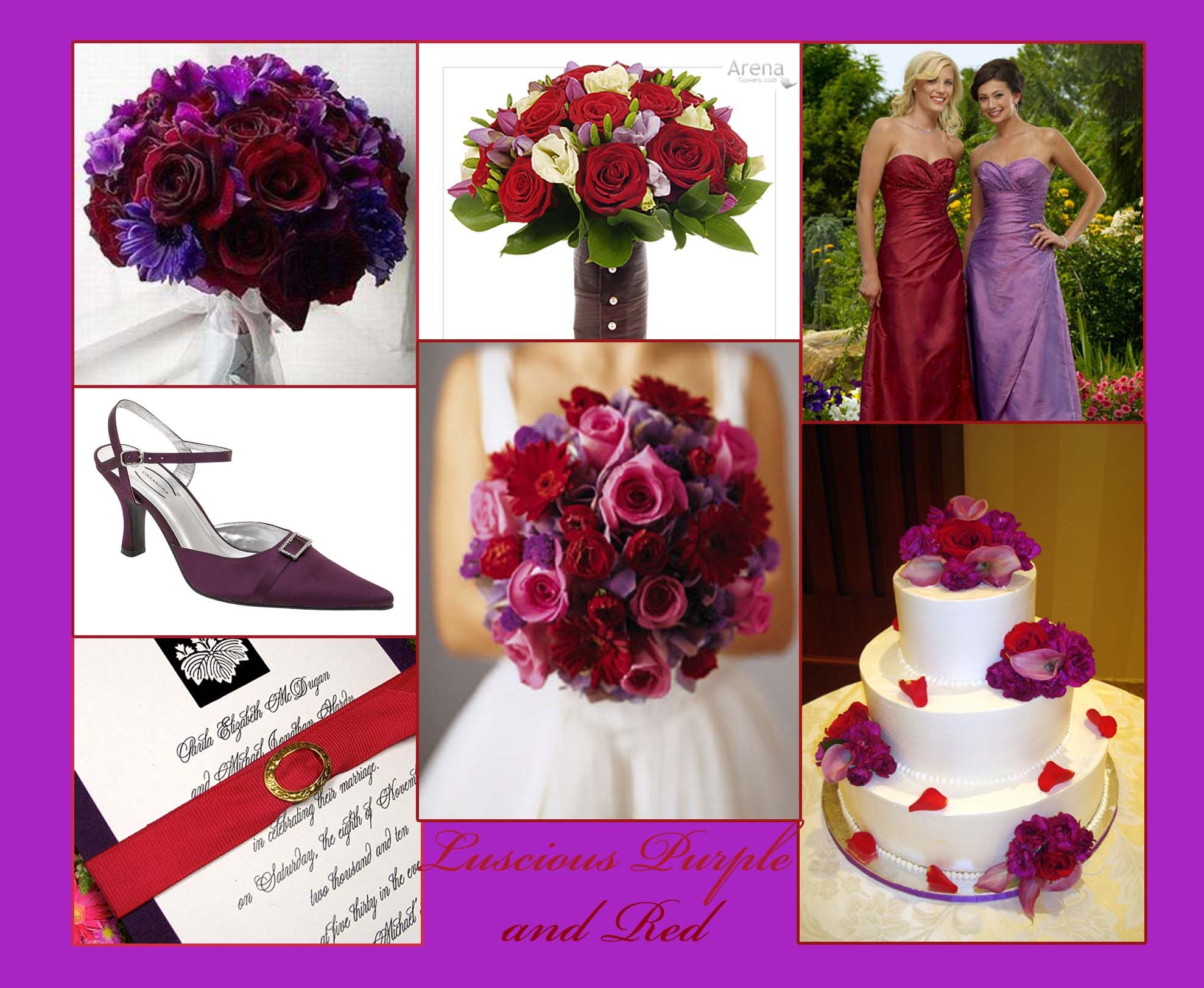 plum and red wedding | Red and Purple Wedding Inspiration Board ...