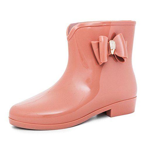 Garten Schlupf Damen Schuhe Regen Stiefel Boots Gummistiefel n0PXwON8k