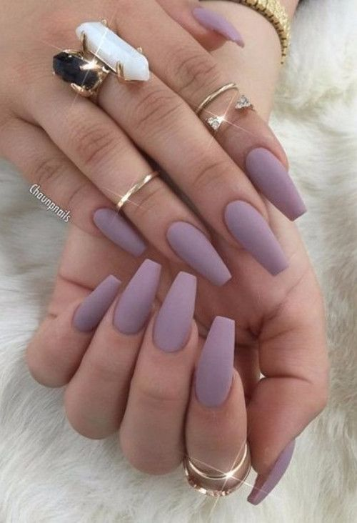 Makeup Hair Nails 2017 Beauty Trends Cute Acrylic Nails Matte Nails Design Solid Color Nails