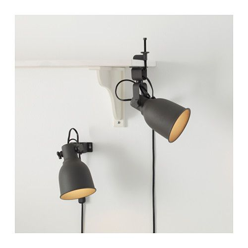 Hektar wallclamp spotlight with led bulb dark gray clamp hektar wallclamp spotlight ikea in white for the bunk beds our budding aloadofball Gallery