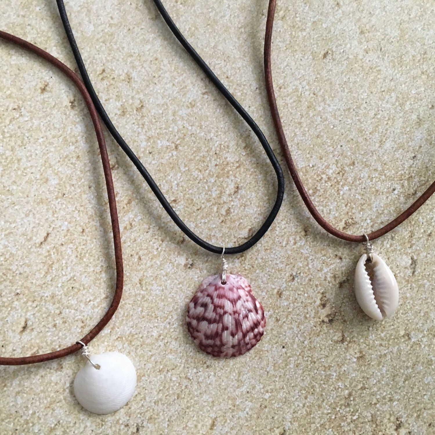 Natural seashell chokers perfect for summer! | Handmade jewelry, Seashell  necklace diy, Shell necklace diy