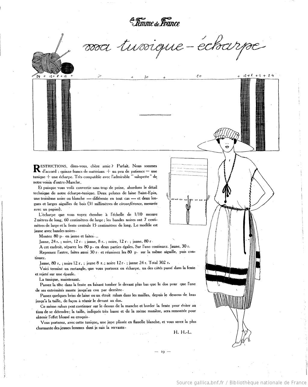 La Femme de France 1920/06/20 | details | Pinterest | Patrones ...