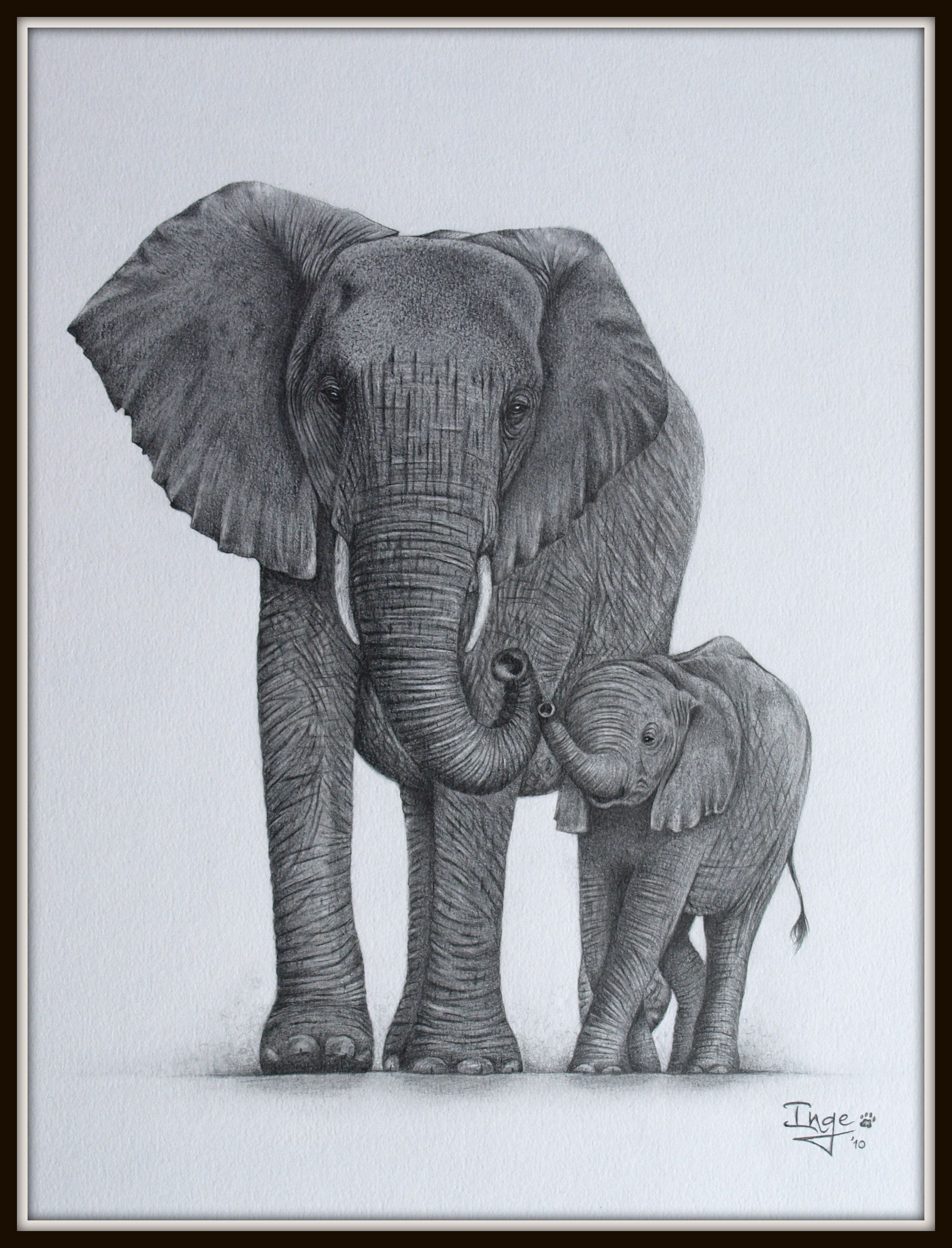 Elephant mom and baby by ingelammersiantart on deviantart elephant mom and baby publicscrutiny Gallery