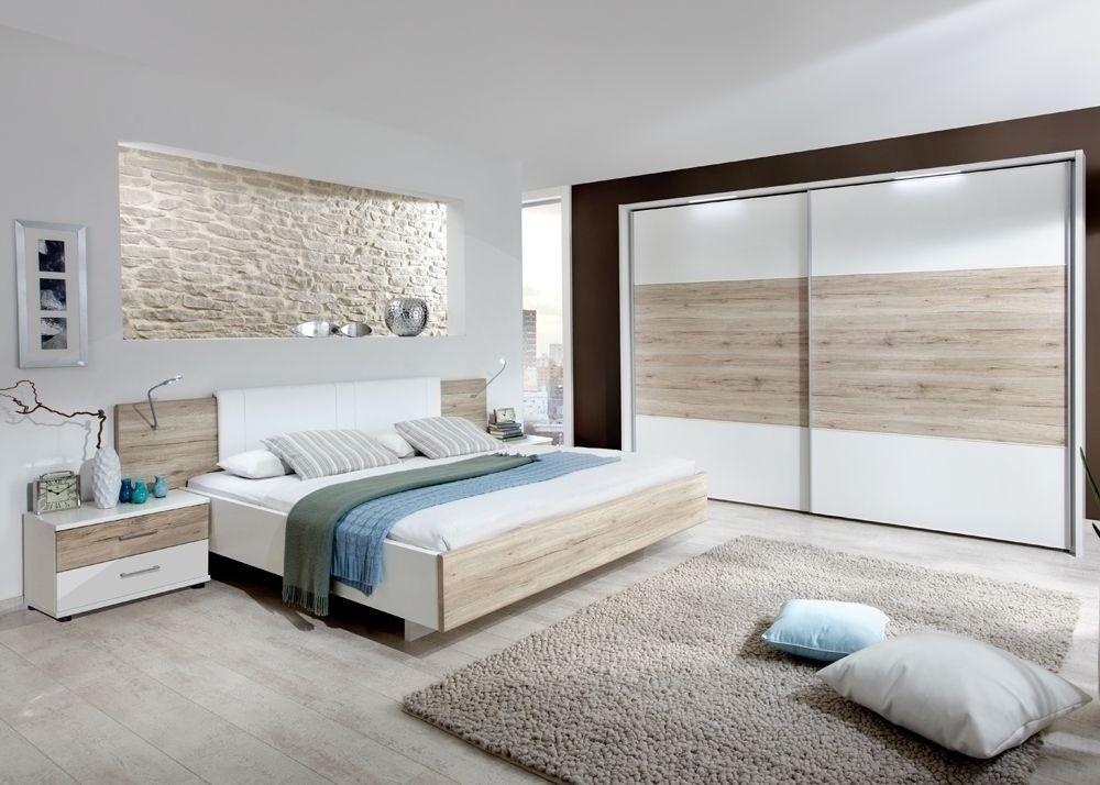 Schlafzimmer komplett Arizona Weiß mit Eiche 9341 Buy now at - komplette schlafzimmer modern