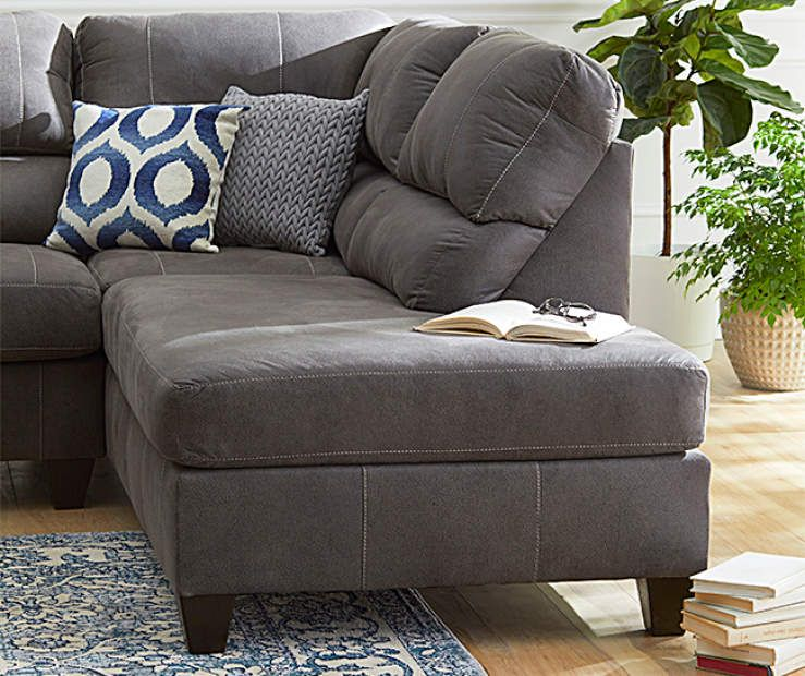 Best Lane Home Solutions Navigation Gray Living Room Sectional 400 x 300