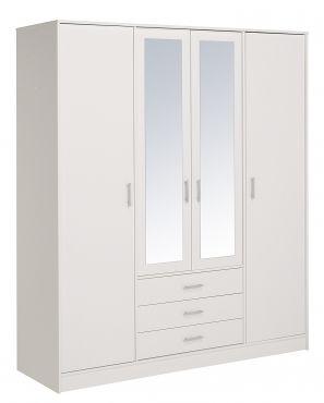 Kleiderschrank Fabio IV #Möbel #weiß #Schlafzimmer #Kleiderschrank