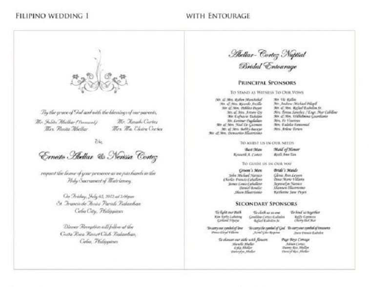 Wedding Invitation Sample Philippines