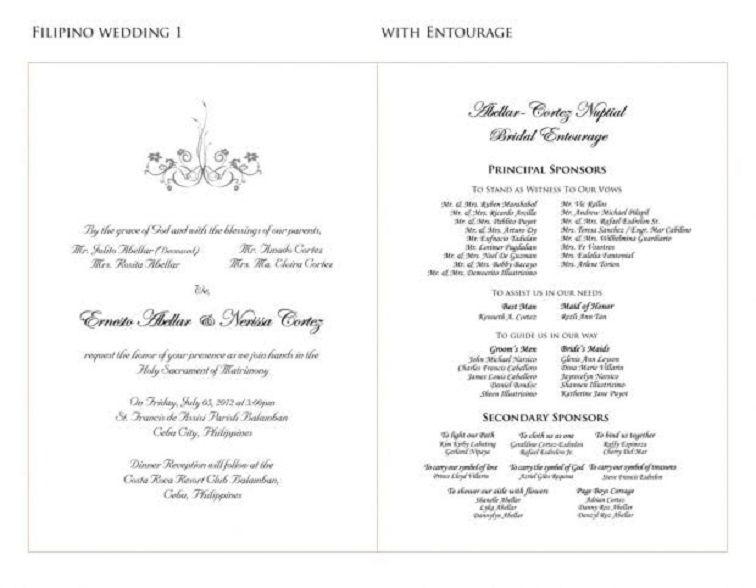 Wedding Invitation Sample Philippines Wedding Invitation