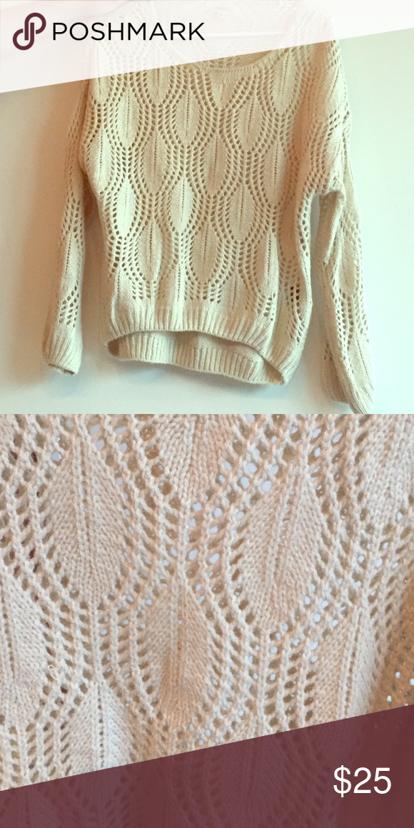 Lovely Girl Cream sweater Upper comfy and cute.. S/M Urban Outfitters Sweaters