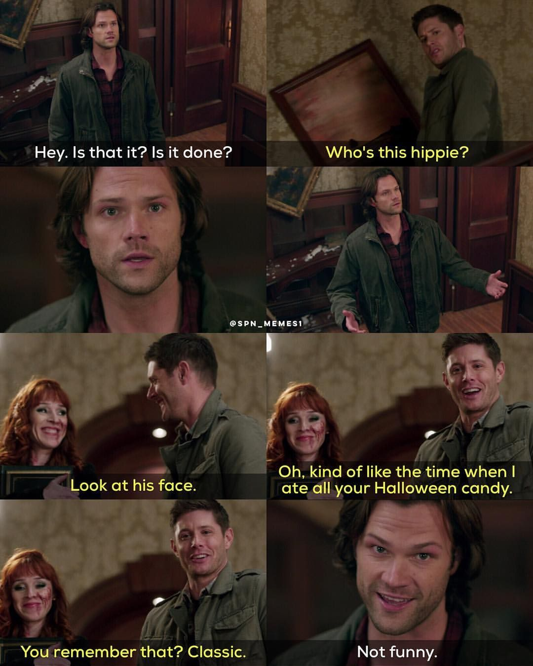 Image result for spn gif 12x11 dean tries remembering