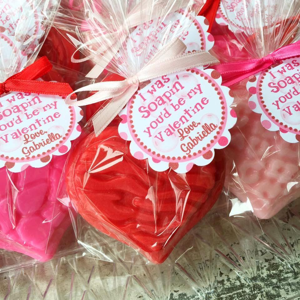 10 HEART SOAPS {Favors} - Valentine Day, School Favor, Teacher Gift ...