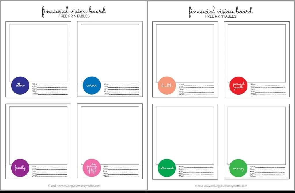 25 Vision Board Templates To Map Out Your Dream Goals Vision Board Template Printable Vision Board Template Budget Binder Printables