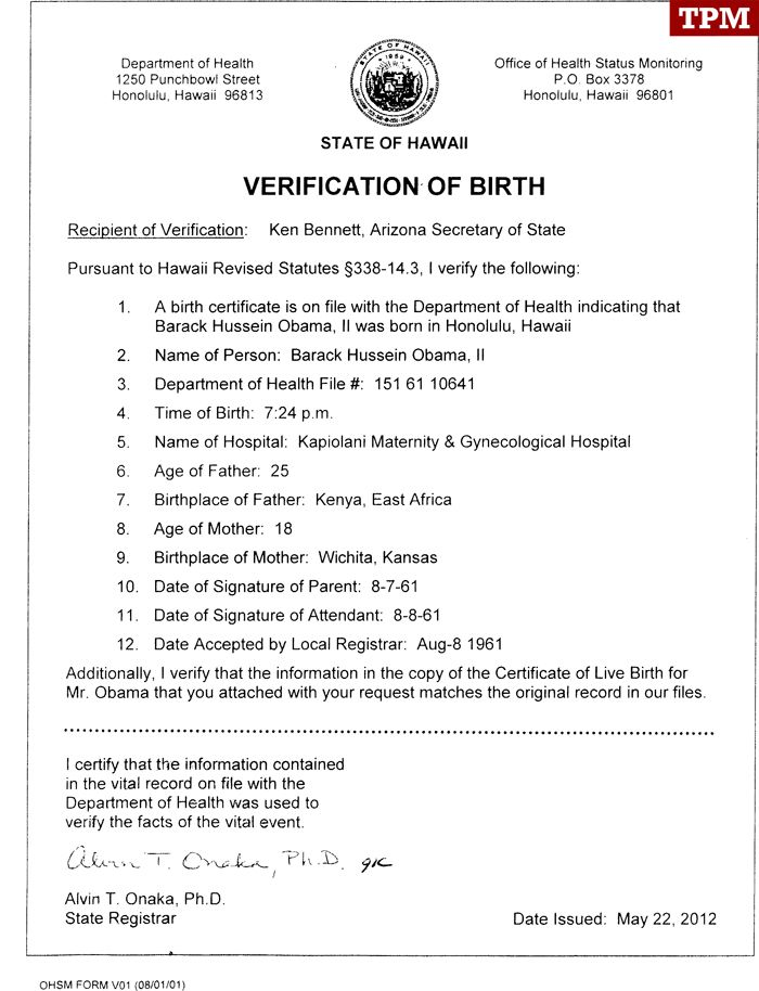 Hawaiis verification of president obamas birth shows clear your birth certificate california step best images how get drivera license louisiana new nola best free home design idea inspiration yadclub Choice Image