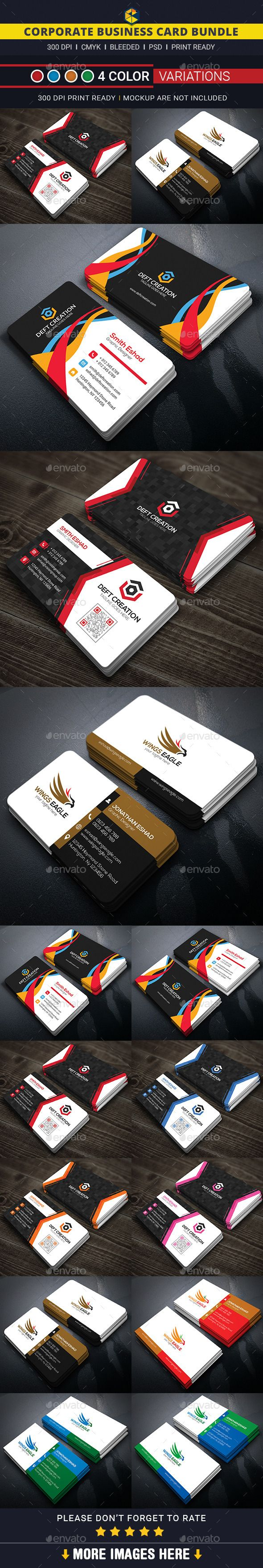 Corporate Business Card Bundle Business Cards Print Templates