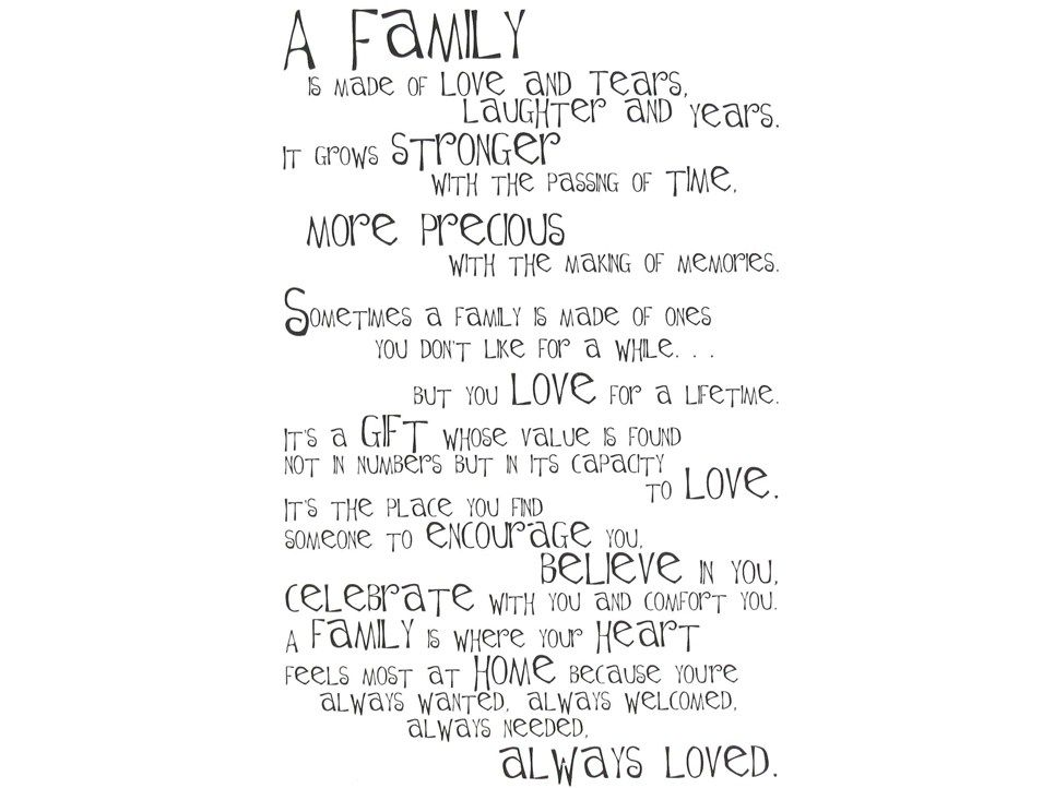 Family Poem Sticker Hobby Lobby 599118
