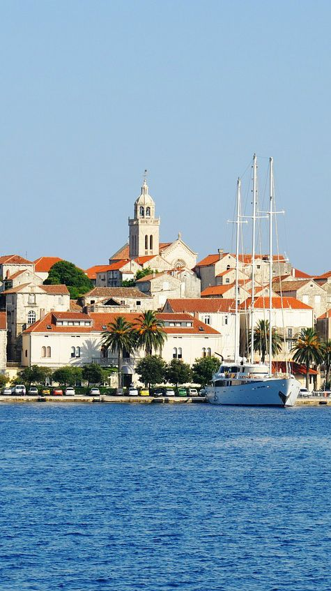 The island of Korčula, Croatia - the birthplace of Marco Polo