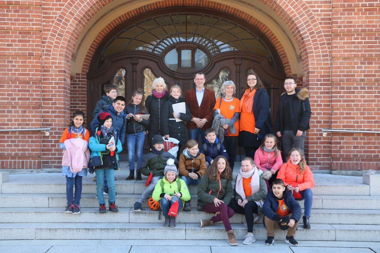 Kinderparlament Der Nevoigt Grundschule Besucht Oberburgermeister