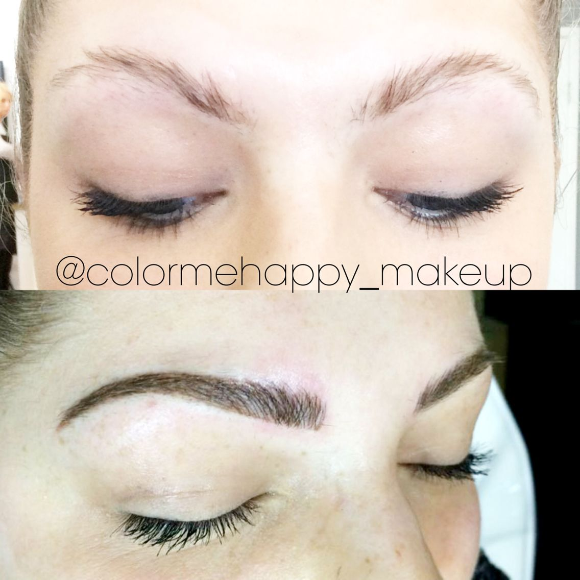 Hair stroke feather touch tattooed eyebrows 499 cosmetic for Eyebrow tattoo microblading