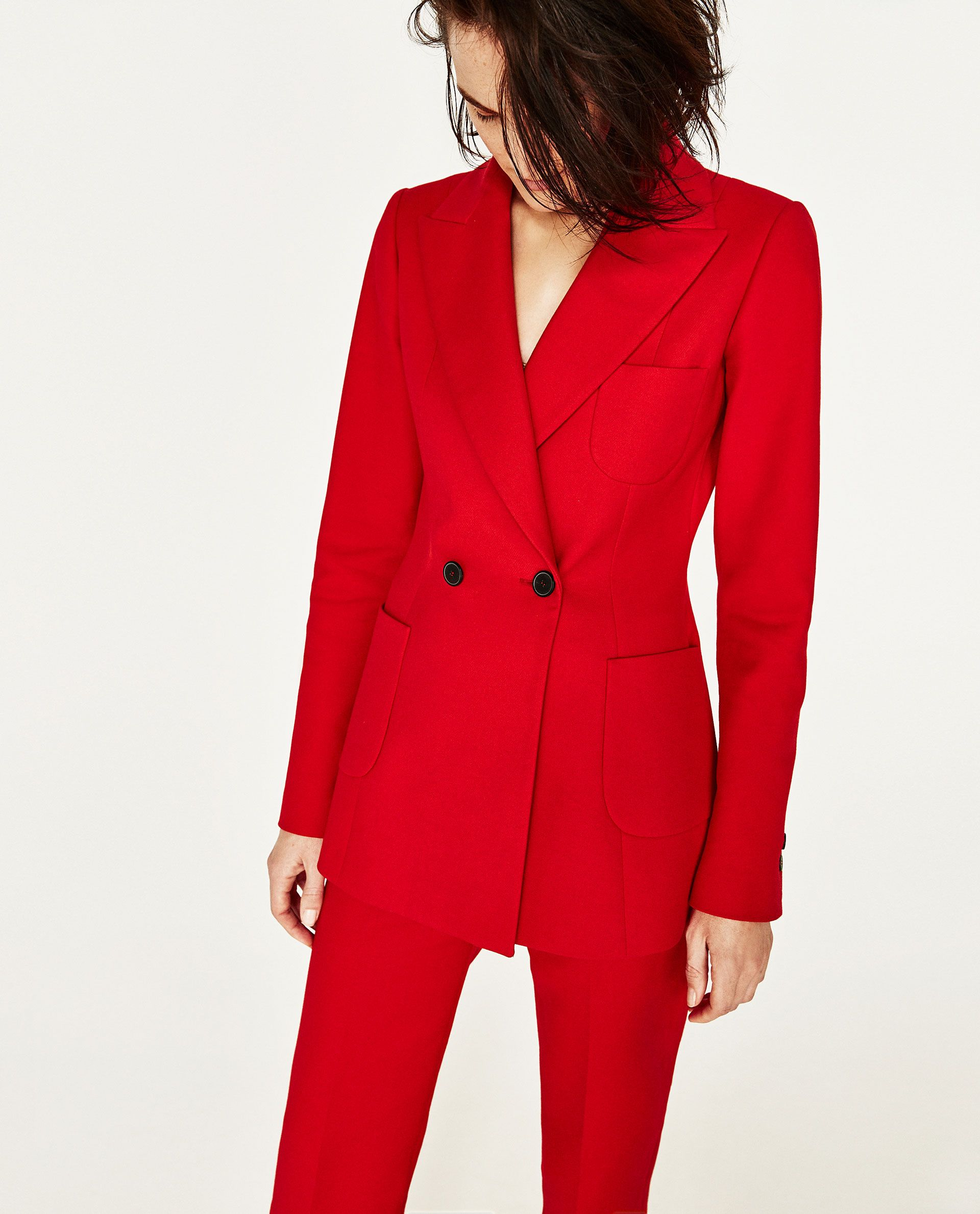 giacca rossa zara 2017