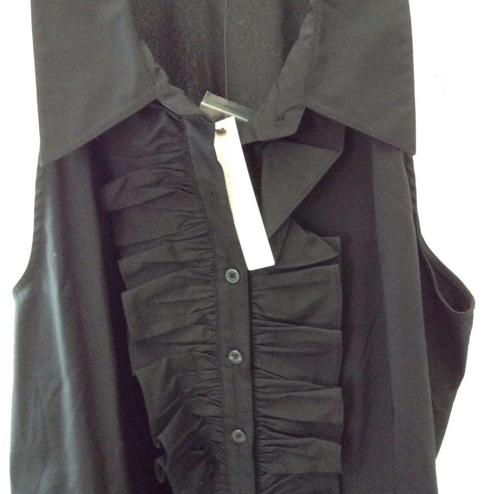 NWT-+ADRIENNE+VITTADINI+sleeveless+ruffle+blouse+size+L+#AdrienneVittadini+#Blouse