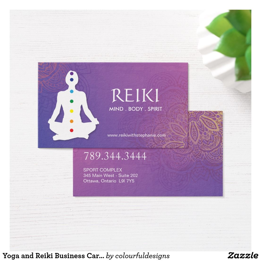 Yoga And Reiki Business Cards Zazzle Co Uk Reiki Business Business Cards Cards