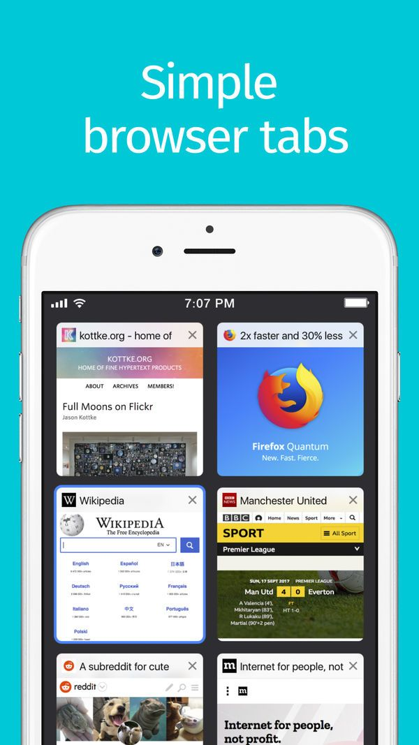 Firefox Web Browser on the App Store | Web browser