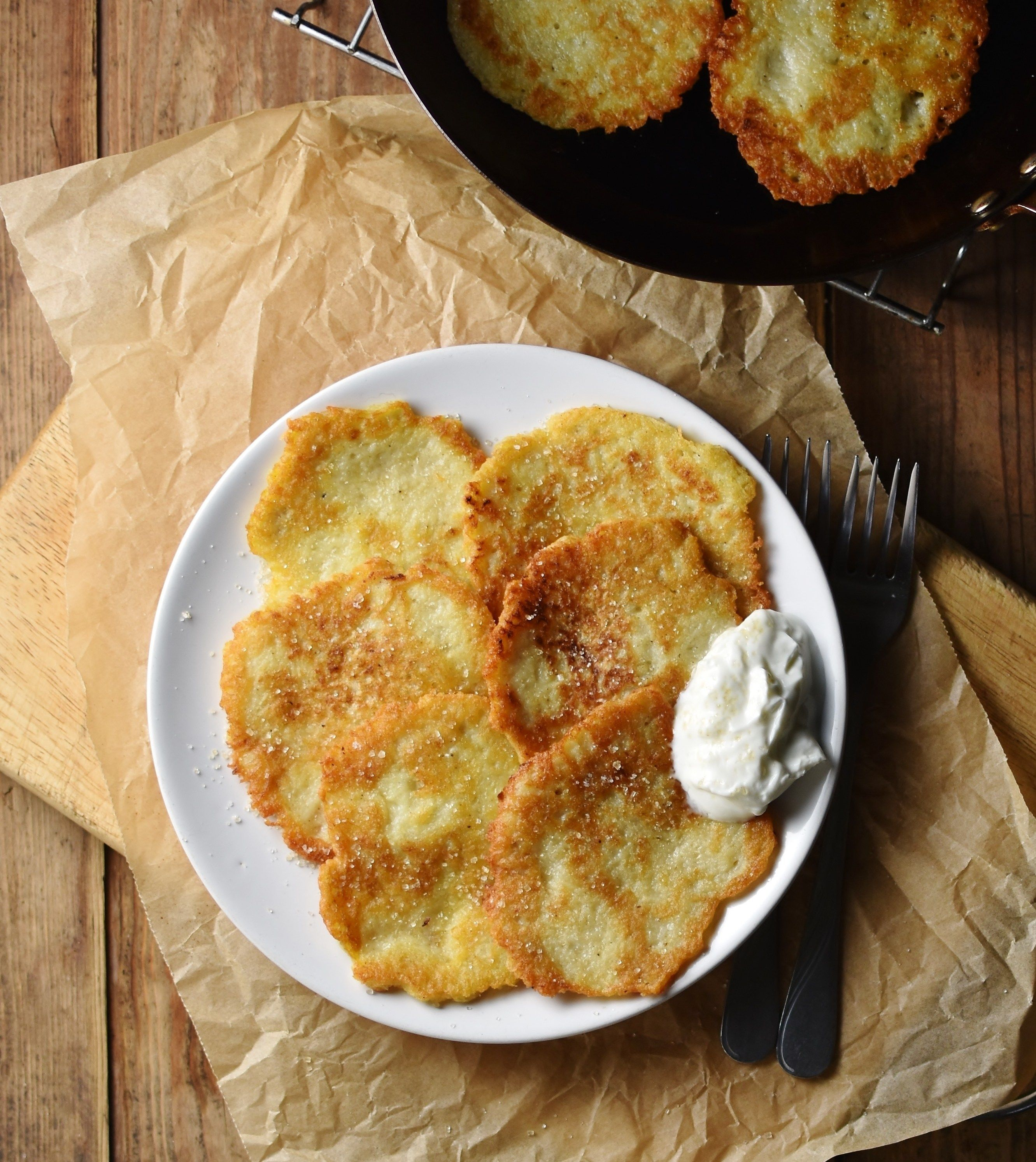 Crispy polish potato pancakes placki ziemniaczane