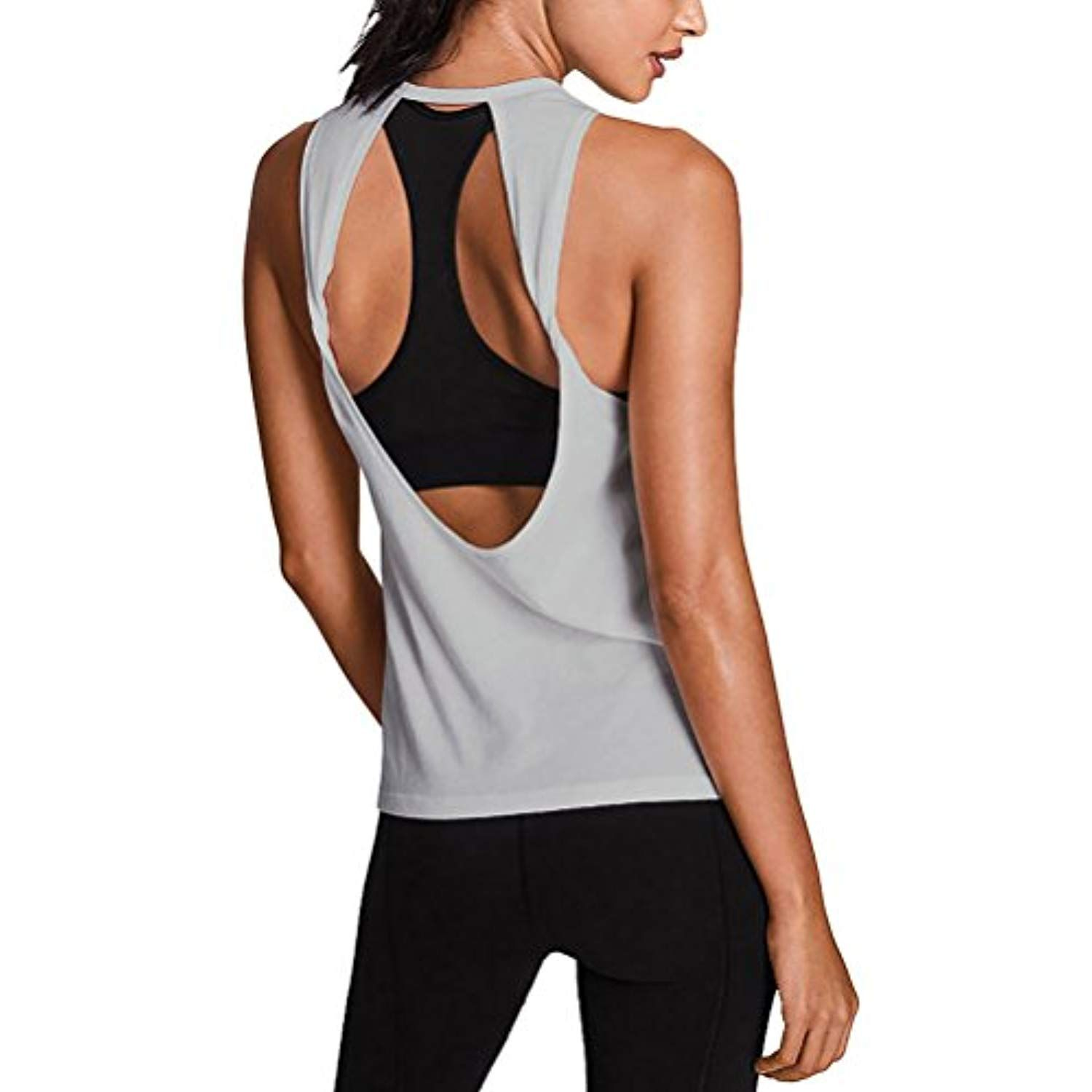 389f16df7c1f00 Mippo Women s Sexy Yoga Shirts Workout Clothes Soft Open Back Sports Tank  Tops    Learn more by visiting the image link. (This is an affiliate link)    ...