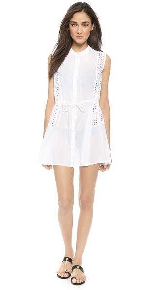 014aafad95 Window Eyelet Beach Shirtdress | Summer Style | Shirt Dress, Dresses ...
