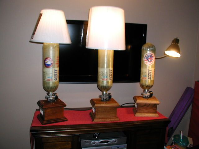 SCBA Desk Or Table Lamp. Trophy Like Base Allows For Placement Of  Personalized Plaque.