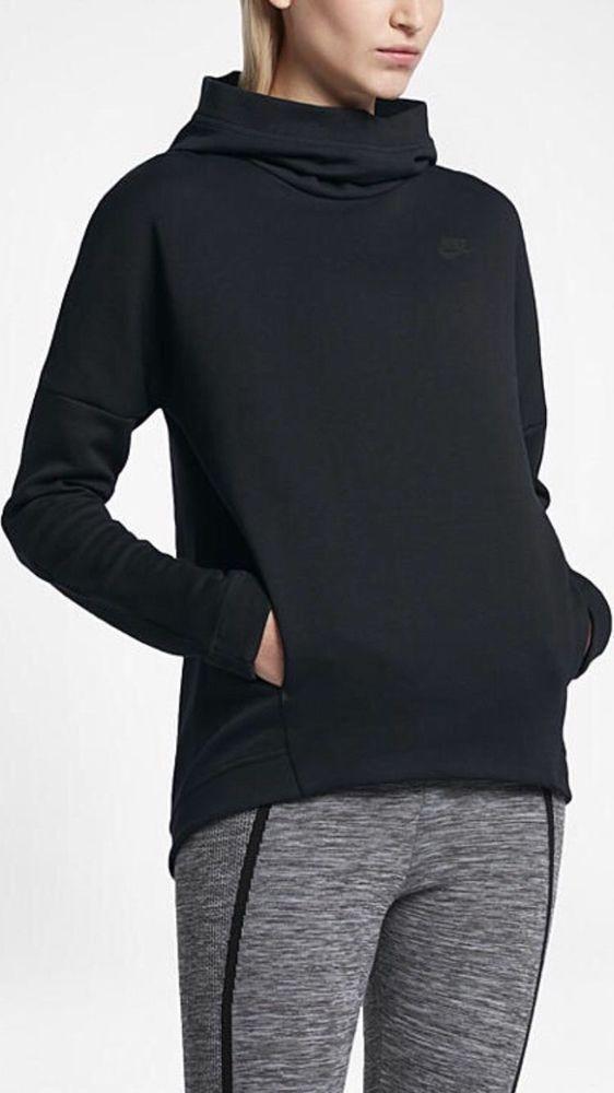 03db68c0d176 Nike Sportswear Tech Fleece Women s Pullover Hoodie Black 844389-010 Size  XL  Nike  ShirtsTops