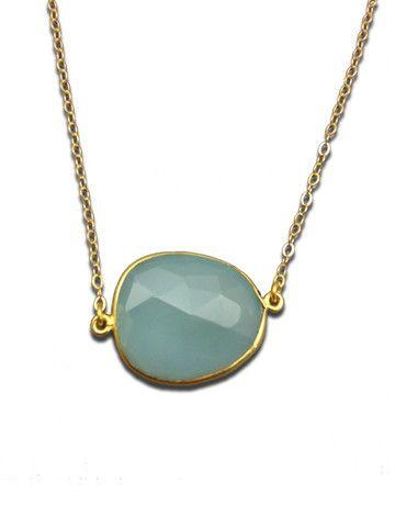 Sonya Renè Big Gem One Stone Necklace