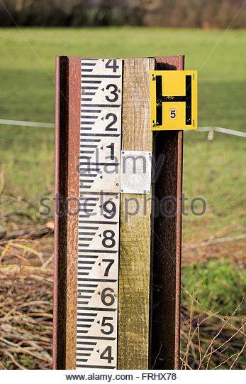 River Level Marker Gauge For Measurement High River Levels