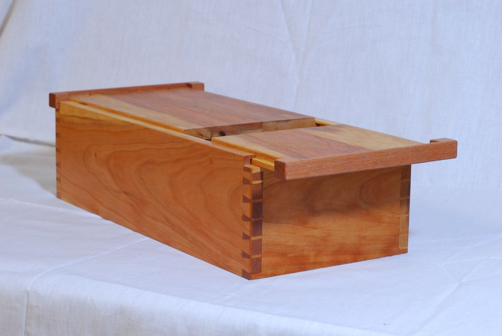 Dovetailed Box W Sliding Lid Containers Dovetail Box
