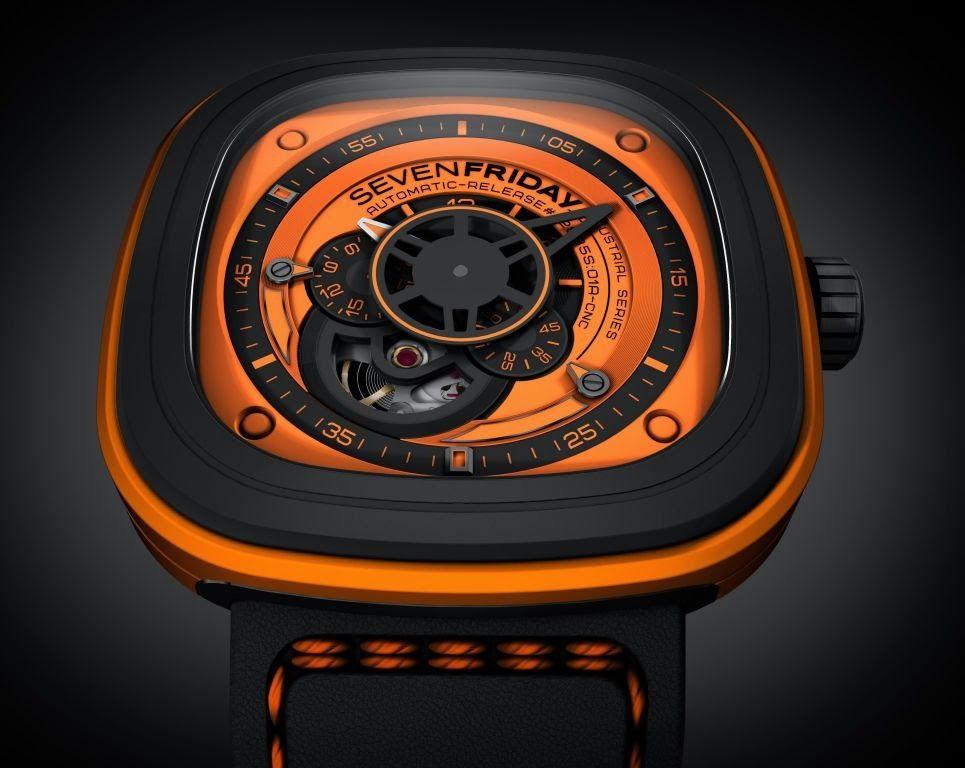 Amazon.com: SEVENFRIDAY Mens Watch orange SF-P1 / 03: …