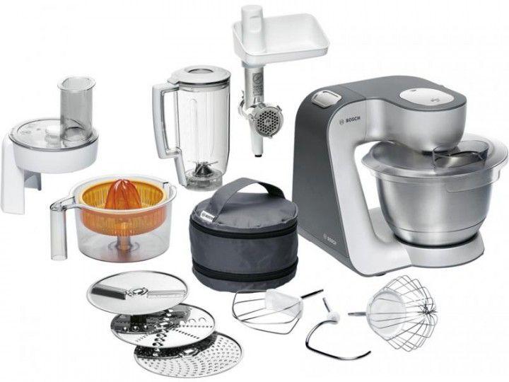 Bosch MUM 56340 Küchenmaschine Styline silber silber 220 Geräte - bosch mum küchenmaschine