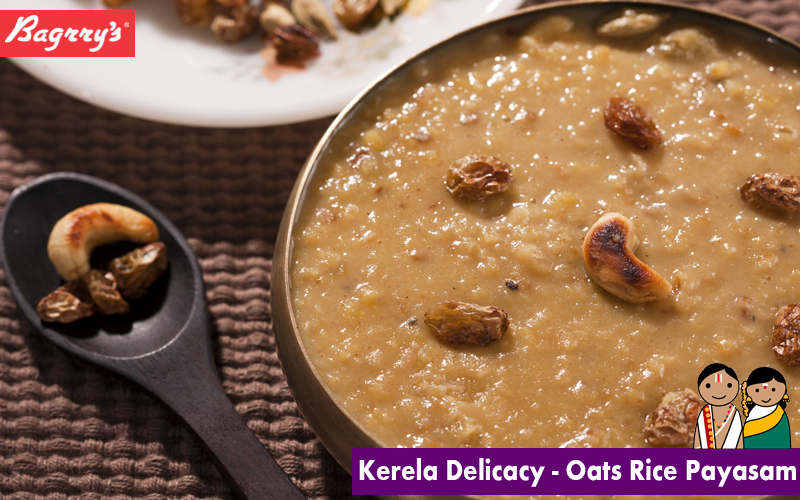 This creamy pudding originates from Kerala and is made with oats rice, milk and sugar as the base ingredients and flavoured with cardamom, raisins, saffron, cashew nuts, pistachios or almonds. Click here for the recipe: http://bit.ly/1UCrMPF #Payasam #Healthy #Meals #Bagrrys #Breakfast #Recipe