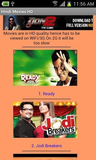 hd bollywood movie download for android