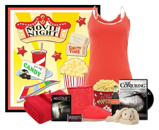 """""""Movie Night"""" by lulurose98 ❤ liked on Polyvore featuring Tommy Hilfiger, West Bend, UGG Australia, Fiesta, Hershey's and Cotton Candy"""