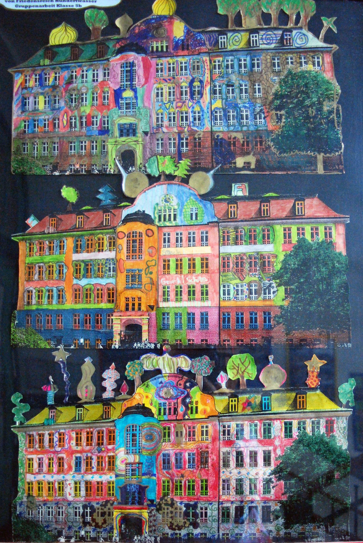 Hundertwasser im Kunstunterricht in der Grundschule - 136s Webseite!