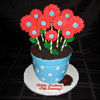 Cake Pops In A Flower Pot Cake With Dirt I 3 Cupcakes In 2018