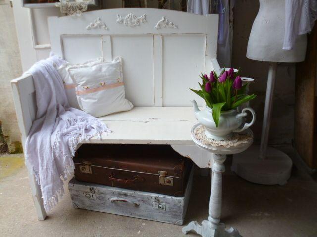 vintage bank shabby chic von krewa steht f r kreativ werkstatt auf m bel. Black Bedroom Furniture Sets. Home Design Ideas
