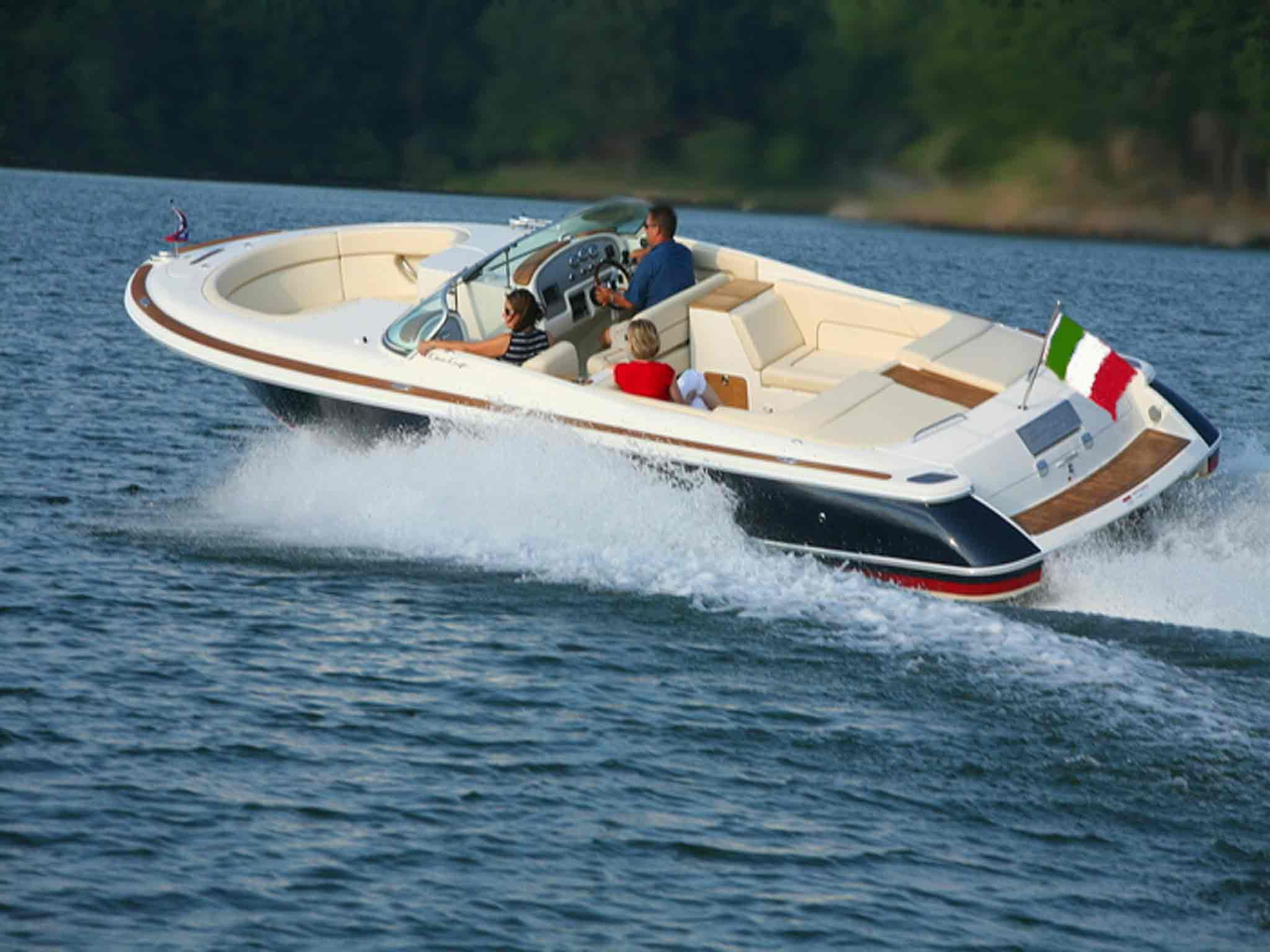 our Chris-Craft day-cruiser