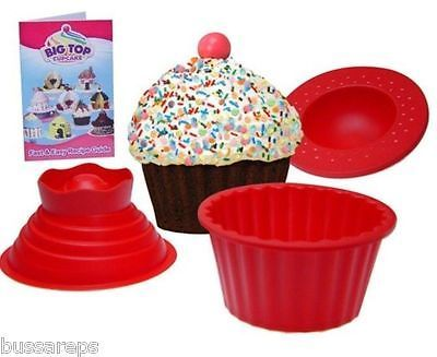Silicone Giant Cupcake Muffin Mould Big Top Bake Cake Christmas