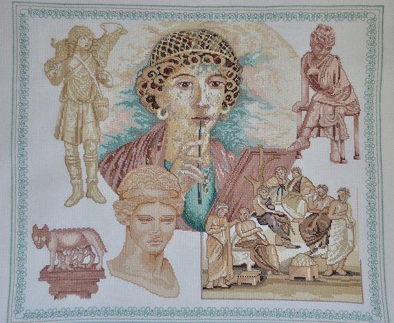 Finished completed Cross stitch - Maria Scharrenburg : Lanarte  (29706?)- The Roman Empire crossstitch counted cross stitch
