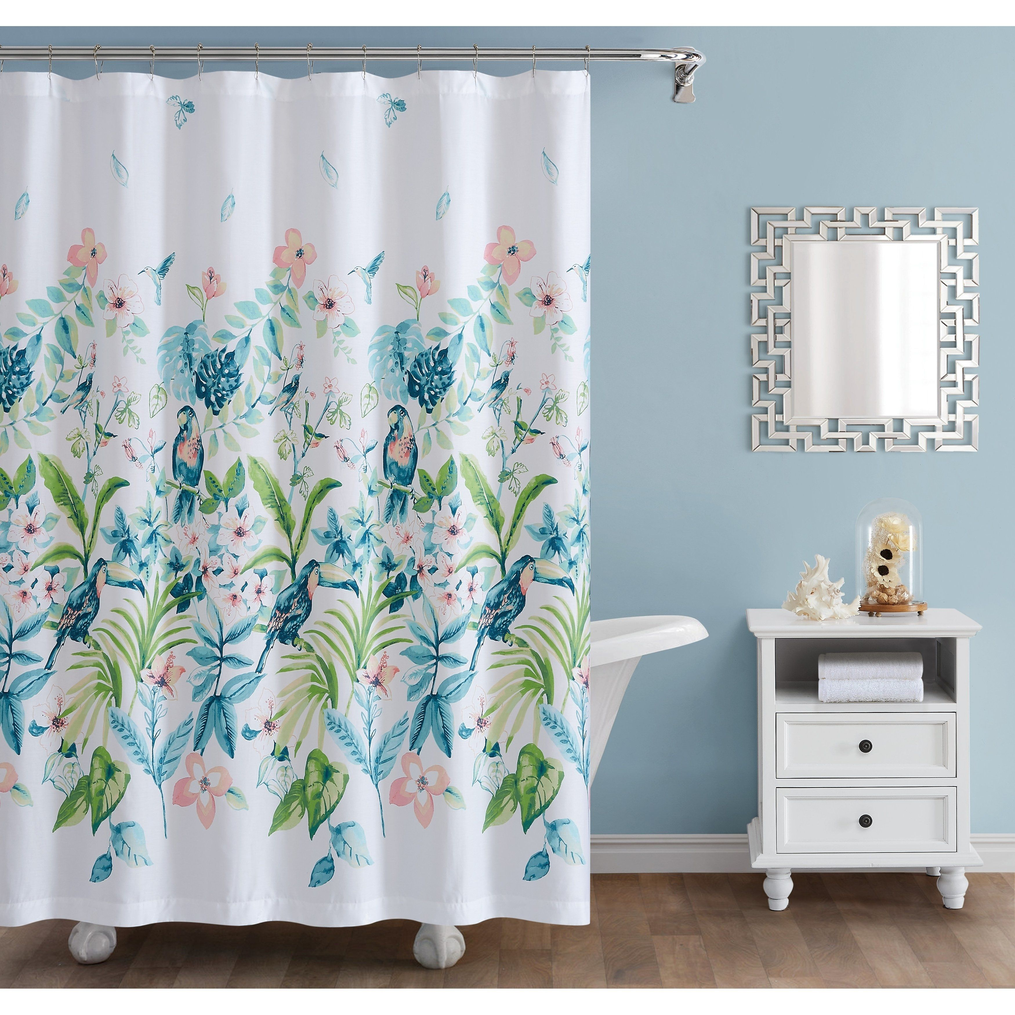 Oceanfront Resort Tropical Bungalow 72 X 72 Shower Curtain