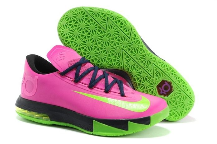 pretty nice e94d7 84fd9 2014 Nike Zoom KD VI 6 Mens Shoes Fushia   The Pink   Green   Pinterest   Nike  zoom, Shoe game and Green shoes